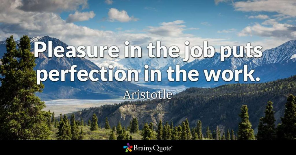 Aristotle quote about job